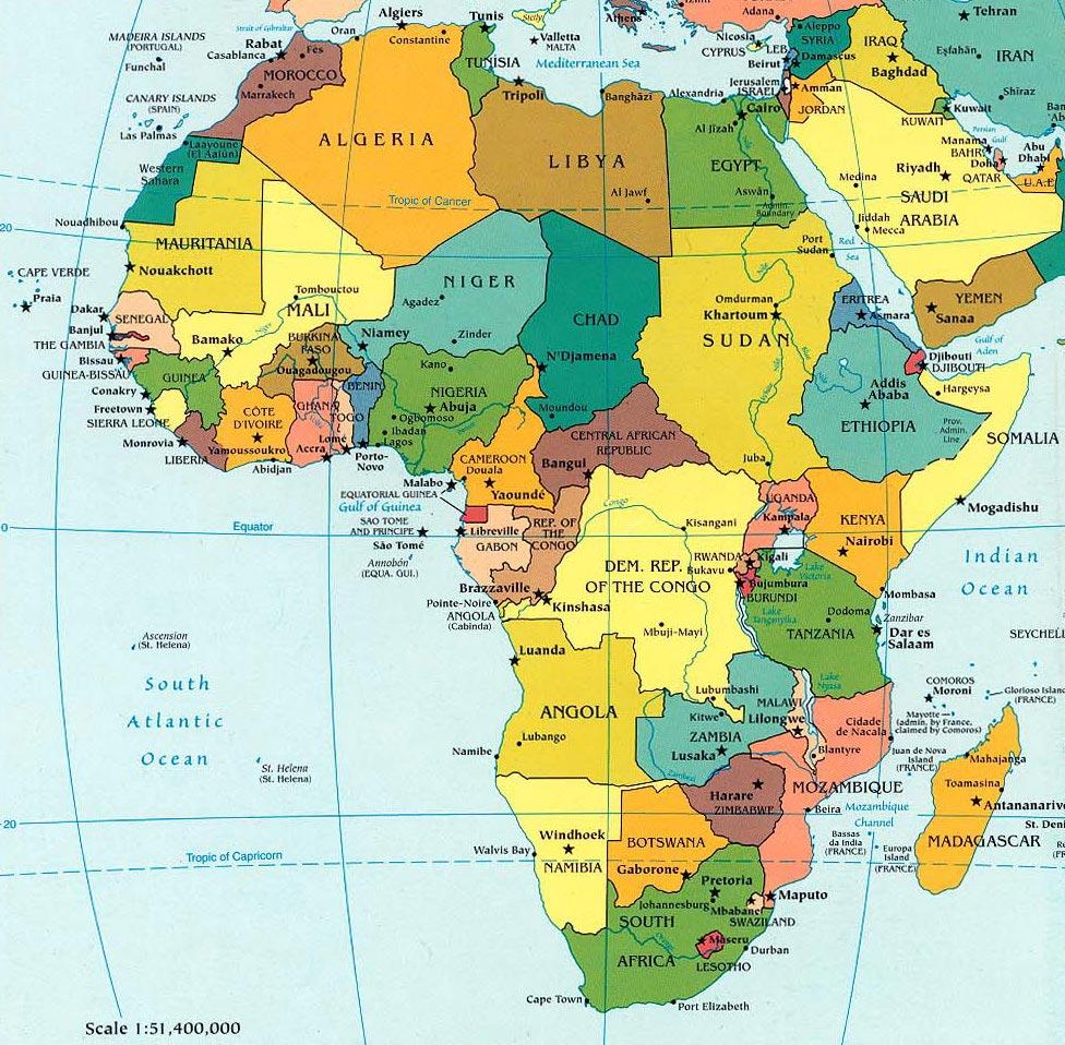 Cartina Mondo Politica Alta Risoluzione.Mappa Africa